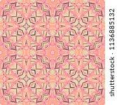 vector seamless ethnic pattern... | Shutterstock .eps vector #1136885132