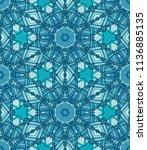 vector seamless ethnic pattern... | Shutterstock .eps vector #1136885135