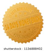 14 days moneyback gold stamp... | Shutterstock .eps vector #1136888402