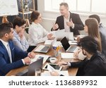 business corporate meeting of... | Shutterstock . vector #1136889932