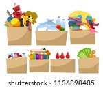 illustration of boxes full of... | Shutterstock .eps vector #1136898485
