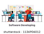 software developing company... | Shutterstock .eps vector #1136906012