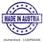 made in austria stamp seal... | Shutterstock .eps vector #1136906336