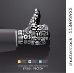 elements are small icons...   Shutterstock .eps vector #113693932