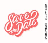 save the date banner. vector... | Shutterstock .eps vector #1136941805