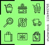 simple 9 icon set of commerce... | Shutterstock .eps vector #1136945705