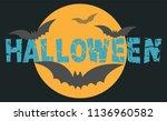 happy halloween party background | Shutterstock .eps vector #1136960582