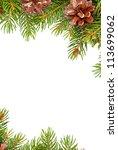 christmas green  framework... | Shutterstock . vector #113699062