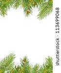 christmas green framework... | Shutterstock . vector #113699068