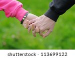 detailed view of a young couple ... | Shutterstock . vector #113699122