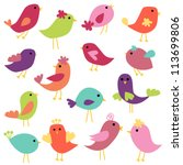 Stock vector vector collection of abstract birds 113699806