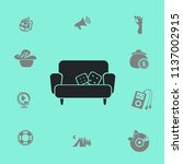 sofa with pillows vector... | Shutterstock .eps vector #1137002915