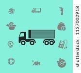 flat truck icon.   Shutterstock .eps vector #1137002918