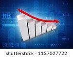 3d illustration financial... | Shutterstock . vector #1137027722