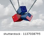 chinese european and american... | Shutterstock . vector #1137038795