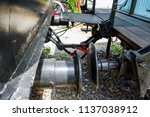 obsolete railway coupler of the ... | Shutterstock . vector #1137038912