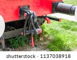 obsolete railway coupler of the ... | Shutterstock . vector #1137038918