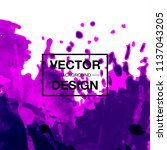 watercolor splatter background | Shutterstock .eps vector #1137043205