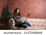 pretty indian   asian girl... | Shutterstock . vector #1137048848