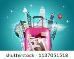 travel destination concept.... | Shutterstock .eps vector #1137051518