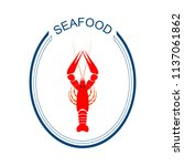 crayfish logo. red river... | Shutterstock .eps vector #1137061862