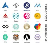 cryptocurrency coin sign vector ... | Shutterstock .eps vector #1137064868