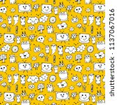 pattern with hand drawn doodle...   Shutterstock .eps vector #1137067016