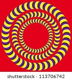 rotation  optical illusion .... | Shutterstock .eps vector #113706742