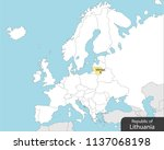 europe map lithuania  capital... | Shutterstock .eps vector #1137068198