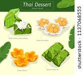 thai dessert | Shutterstock .eps vector #1137068555