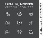 modern  simple vector icon set... | Shutterstock .eps vector #1137070712