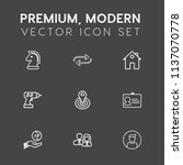 modern  simple vector icon set... | Shutterstock .eps vector #1137070778
