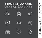 modern  simple vector icon set... | Shutterstock .eps vector #1137076292