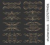 set of luxurious decorative...   Shutterstock .eps vector #1137079406