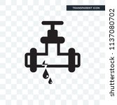 pipes vector icon isolated on... | Shutterstock .eps vector #1137080702