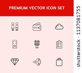 modern  simple vector icon set... | Shutterstock .eps vector #1137081755