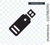 usb memory vector icon isolated ... | Shutterstock .eps vector #1137082592