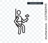climber vector icon isolated on ... | Shutterstock .eps vector #1137083945