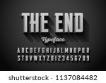 retro style condensed 3d font ... | Shutterstock .eps vector #1137084482