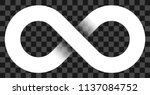 infinity symbol white   simple... | Shutterstock .eps vector #1137084752