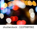 lights abstract vintage night... | Shutterstock . vector #1137089582