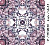openwork pattern in various... | Shutterstock .eps vector #1137093155