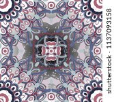 openwork pattern in various... | Shutterstock .eps vector #1137093158