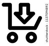 cart like shape with circles i...