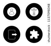 ui ux glyph icons set. user...