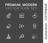 modern  simple vector icon set... | Shutterstock .eps vector #1137098435