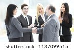 business handshake and business ...   Shutterstock . vector #1137099515