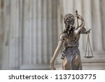 the statue of justice themis or ... | Shutterstock . vector #1137103775