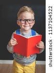 back to school. pupil of... | Shutterstock . vector #1137104522