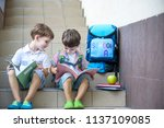 children go back to school.... | Shutterstock . vector #1137109085